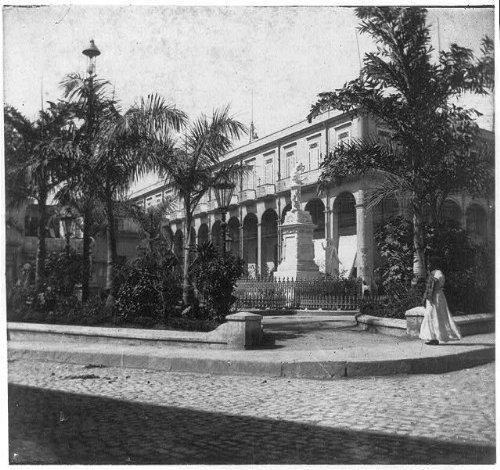 Infinite Photographs Photo: Puerto Rico,1898-1900,Statue in Front of Casino,Woman (Puerto Rico Casino)