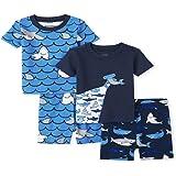 The Children's Place Shark - Juego de Pijama de Cuatro Piezas Juego de Pijama para Niños
