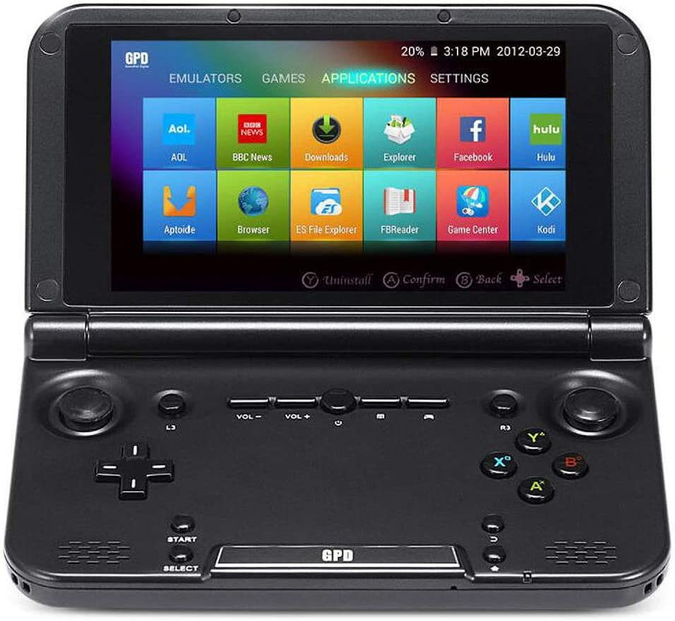 "GPD XD Plus [Latest HW & Most Stable UPDATE] Handheld Gaming Console 5"" Touchscreen Android 7.0 Portable Video Game Player Laptop MT8176 Hexa-core CPU,PowerVR GX6250 GPU,4GB/32GB,Support Google Store"