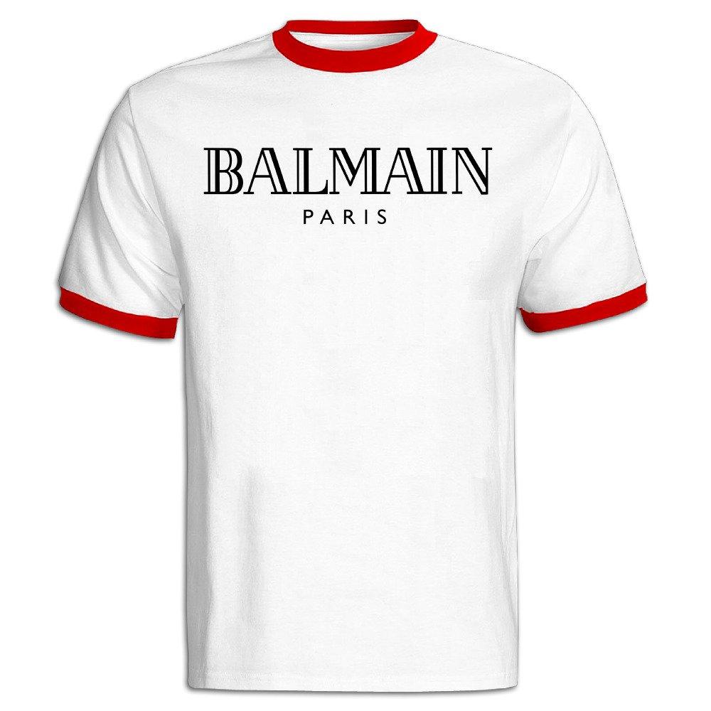 cb09e0a20 Amazon.com: Dandelion Balmain T-Shirt S Red For Men's: Clothing