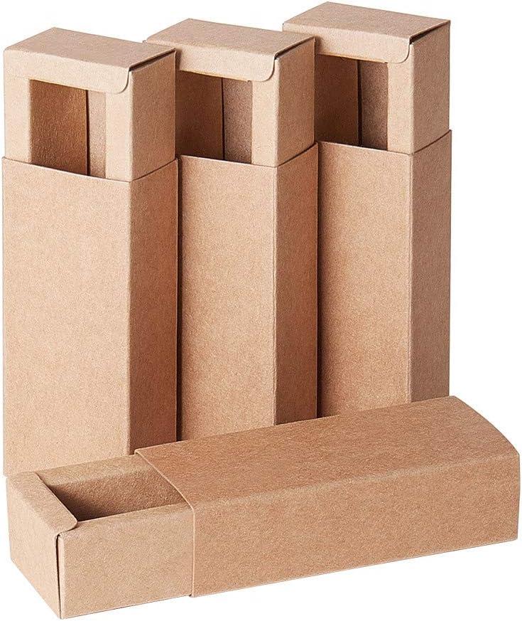 BENECREAT 24 Pack Caja de Cartón Kraft Cajas de Regalo para Fiesta Superior Envase de Joyería - Marrón 9.5x4.3x2.7cm: Amazon.es: Juguetes y juegos