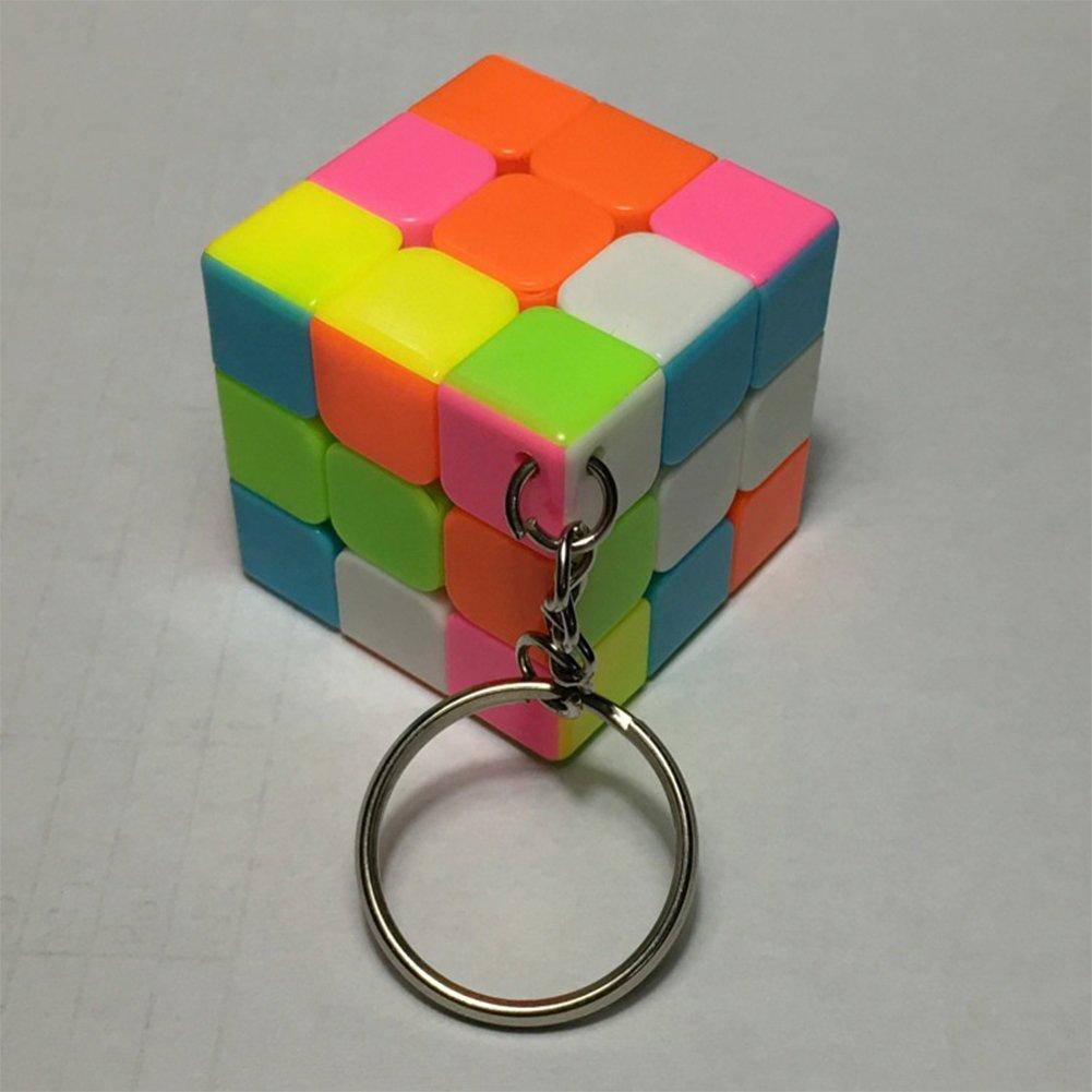 Faironly Creative Mini Magic Cube - Llavero con diseño de Cubo de Velocidad