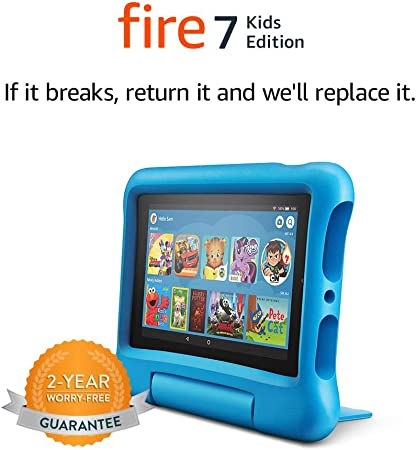 Amazon Com Fire 7 Kids Edition Tablet 7 Display 16 Gb Blue Kid Proof Case Kindle Store