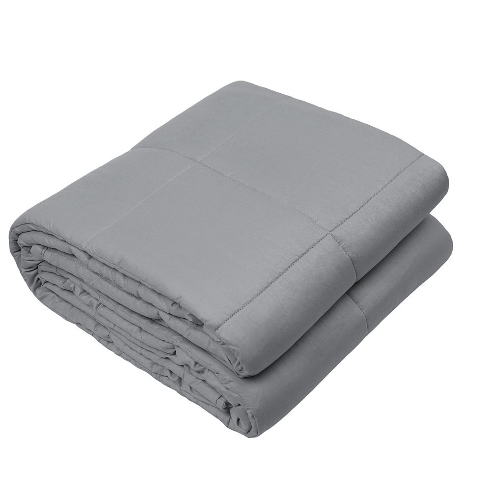 Viki Sensory Weighted Blanket Grey (60''x78'', 13lbs for 120-140lbs individual) for Adults, Women, Men | Great for Anxiety, ADHD, Autism, OCD, and Sensory Processing Disorder | Fit Queen Size Bed