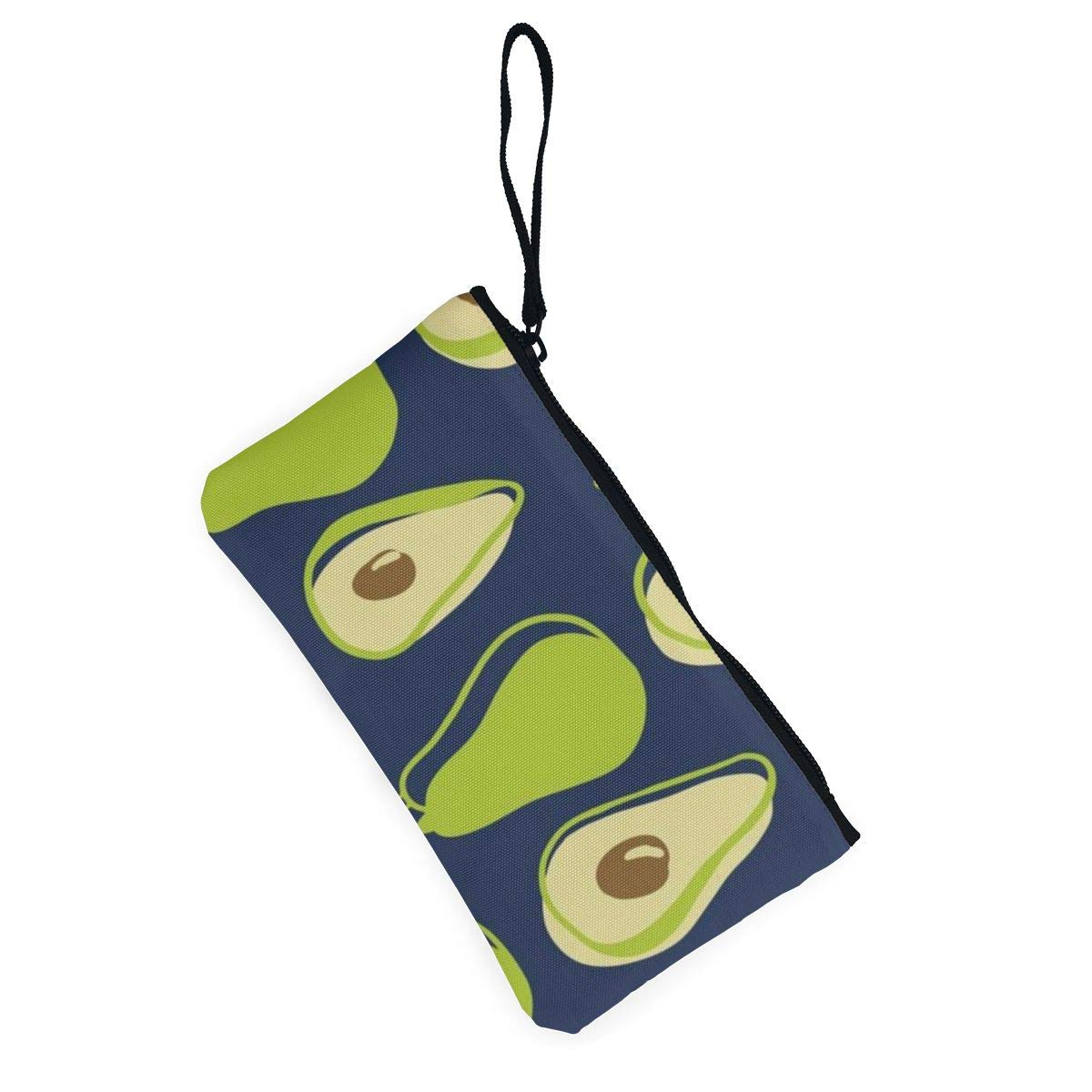 Maple Memories Avocado Floral Portable Canvas Coin Purse Change Purse Pouch Mini Wallet Gifts For Women Girls