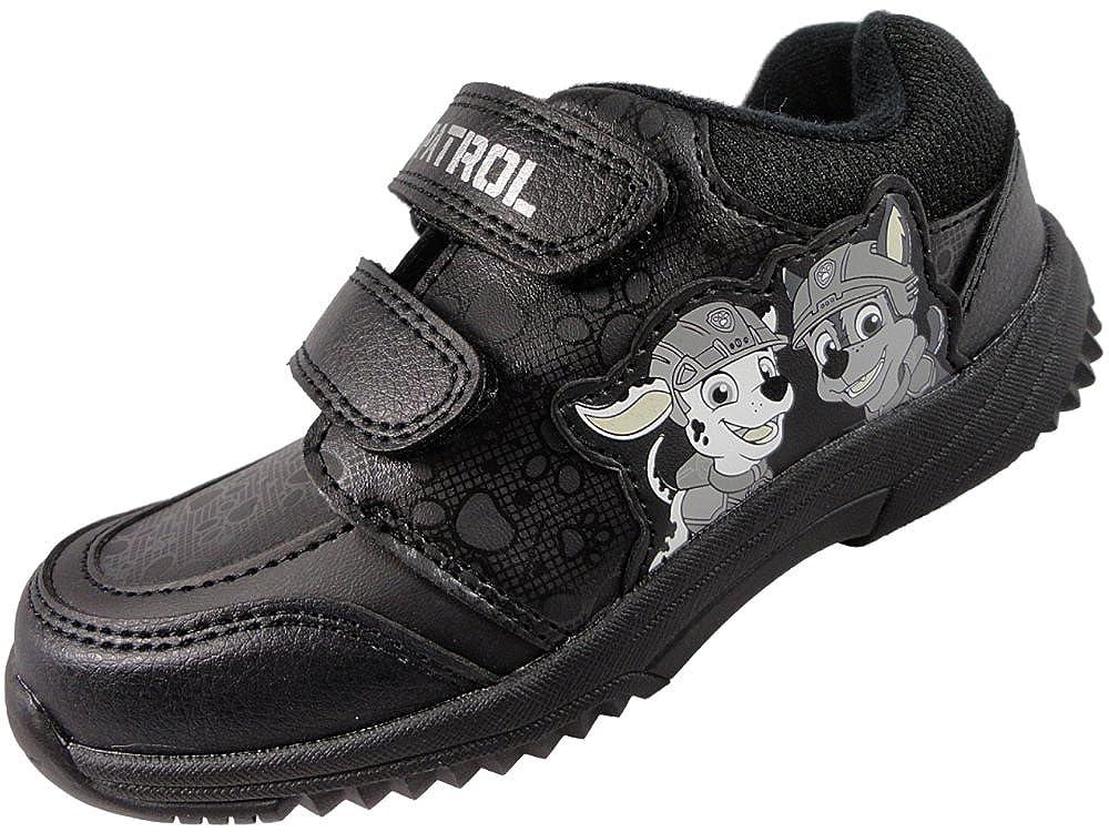 'Paw Patrol' Boys Black Soft Close Fastening School Shoes
