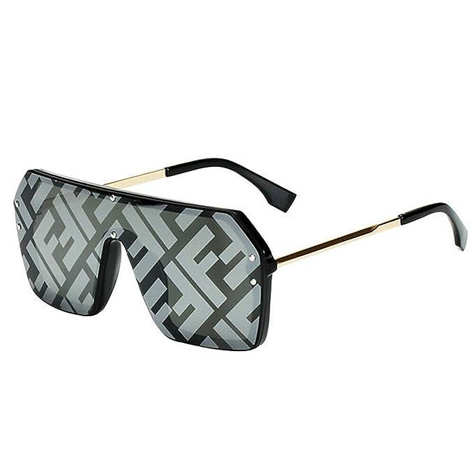 Amazon.com: Beette 2019 Gafas de sol cuadradas de gran ...