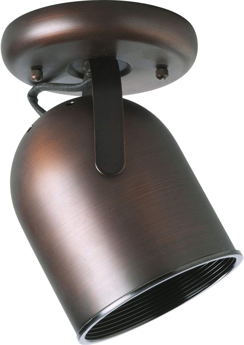 Progress Lighting P6144-174 1-Light Round Back Ceiling Mount Directional, Urban Bronze