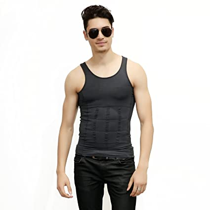 b9c83732fbc Amazon.com  AGPTEK Men s Slimming Body Shaper Vest
