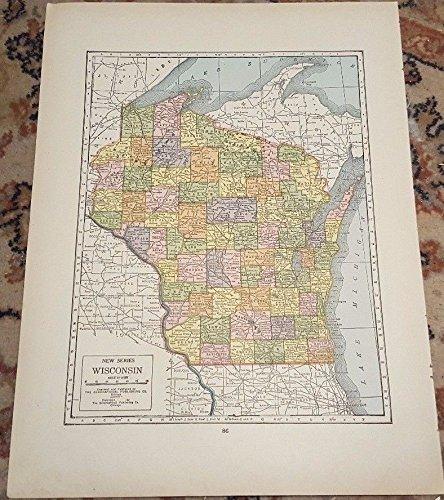 Wisconsin Antique Map (12