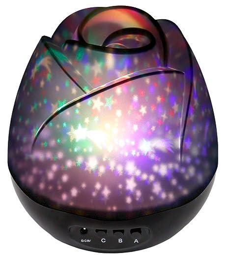 Noche estrellada luz, Star luz giratoria Proyector con, de la ...
