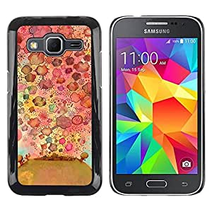 Paccase / SLIM PC / Aliminium Casa Carcasa Funda Case Cover para - Flowers Nature Drawing Pattern - Samsung Galaxy Core Prime SM-G360