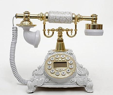 Amazon.com: Ryu estilo europeo clásico antiguo teléfono fijo ...
