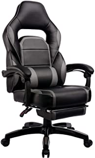 GTRACING Gaming Chair with Footrest Racing Office Chair Executive Seat Height Adjustable with Pillows Recliner Swivel