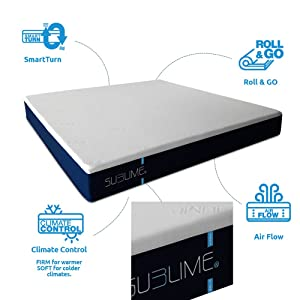Mattress, Twin with Smart-Turn Technology natural sleep aids - 61UafiAqM8L - Natural sleep aids – the best supplements to end sleepless nights
