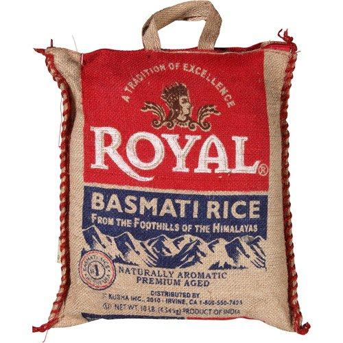 Royal Naturally Aromatic, Premium Aged Basmati Rice, 10 lb Product of India by Royal