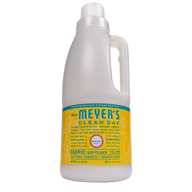 Mrs. Meyer's Clean Day Fabric Softener, 32 fl oz (Honeysuckle, Pack - 3)