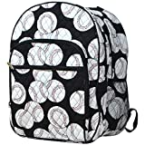 Baseball Print NGIL Quilted Large School Backpack
