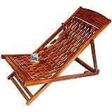 National Handicrafts Folding Relaxing Chair (Brown)