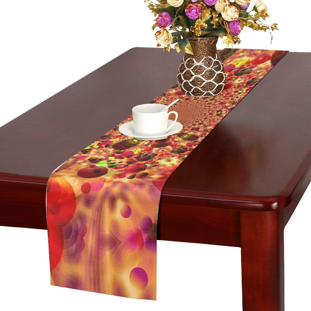 Big Bang Color Structure Lines Table Runner, Kitchen Dining Table Runner 16 X 72 Inch For Dinner Parties, Events, Decor