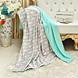 Towin Baby Double Layer Minky Throw Blanket/Bed