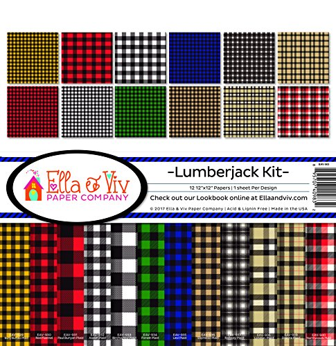 (Ella & Viv by Reminisce Lumberjack Scrapbook Collection Kit)