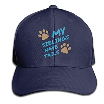 Unisex My Siblings Have Tails Baseball Hip-hop Cap Vintage Adjustable Hats Cotton Trucker Caps for Women and Men Ash,One Size