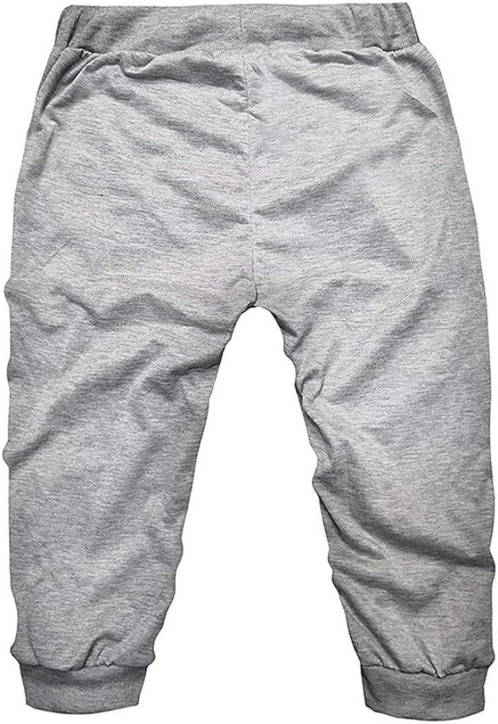 Mens Sweatpants F/_Gotal Men/'s Casual Plain Drawstring Elastic Waist Lightweight 3//4 Cropped Pants Sports Running Pants