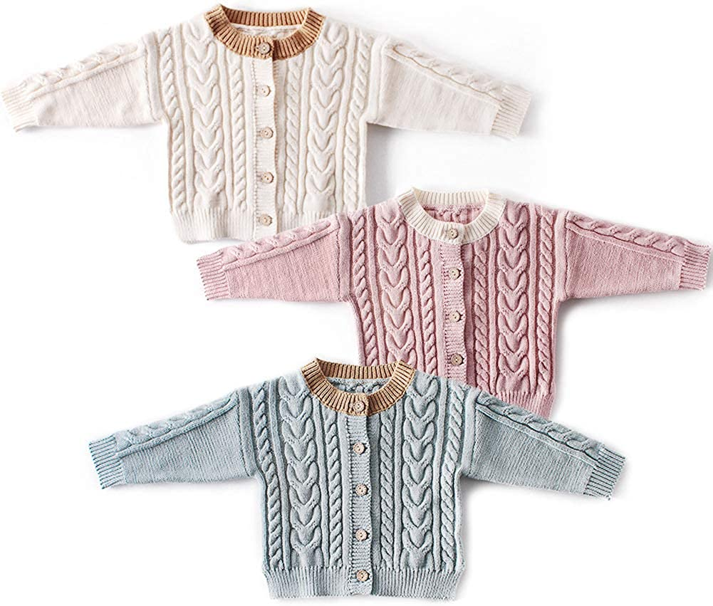 Simplee kids Baby Toddler Girl Fall Winter Cardigan Sweater for 0-24 Months