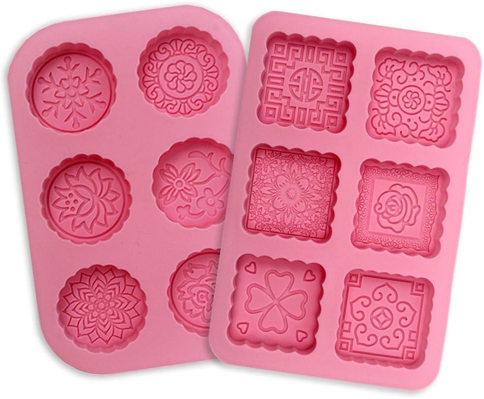Silikonform 2 St/ück 6 Hohlr/äume Rechteckig DIY Silikon Form f/ür Kuchen Backen Schokolade Biscuit Eisw/ürfel Selbstgemachte Handarbeit Seifenform
