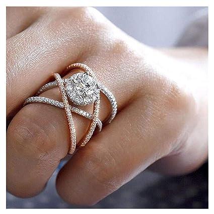 984aaffde27b Amazon.com  Big Sale! Elegant Diamond Fine Ring Charm Creative Rings ...
