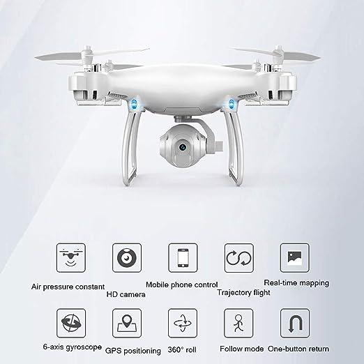 Drone Plegable con cámara para Adultos Fotografía aérea HD WiFi ...