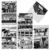 M9681TYG In The Mail: 10 Assorted Thank You Folded Note Cards Feature Photographs of Mailboxes, w/White Envelopes.