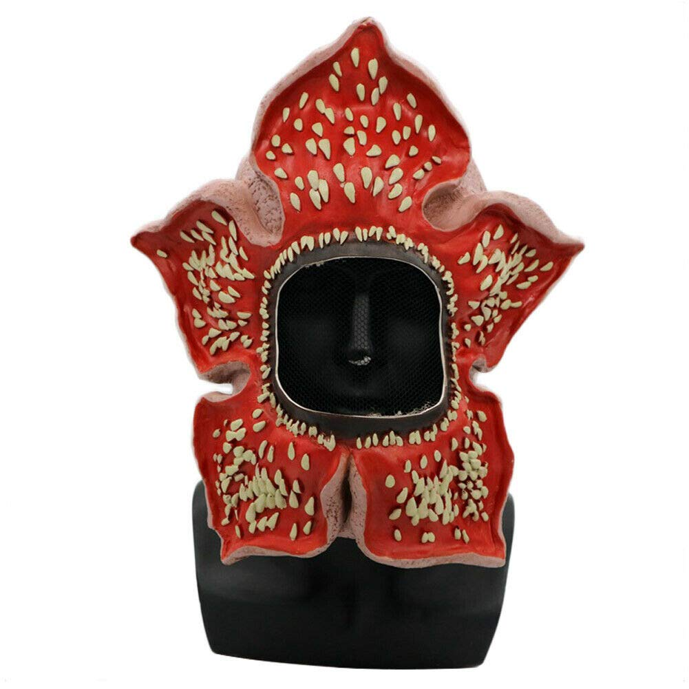 Stranger Season 3 Cosplay Things Demogorgon Mask Latex Dress Up Costume Party Props Red by Ginkago