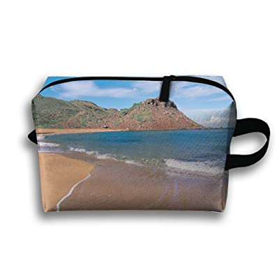 Yiot Contemporary Landscape Sea Beach Travel Toiletry Organizer Bag