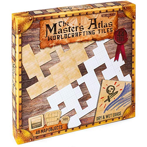 Deluxe Master's Atlas Worldbuilding Tiles - Great for Role Playing Fantasy Games!