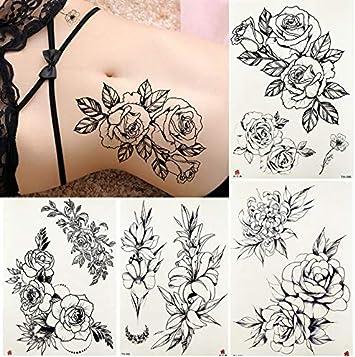 yyyDL Tatuajes de bosquejo a prueba de agua Mujeres TemporalesBody ...