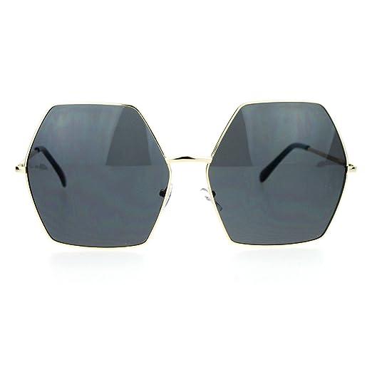 0cfbbd07d4d Amazon.com  SA106 Retro Oversized Octagon Groove Hippie Sunglasses ...