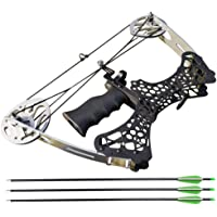 Archery Mini Compound Bow and Arrow Set 35lbs Complete Compound Bow Kits Right and Left Hand Bow for Adult Youth Hunting Shooting