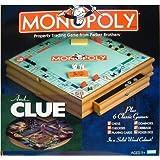 Parker Brother Hasbro木製ボードゲーム、Monopoly、Clueプラス6他ボードゲーム