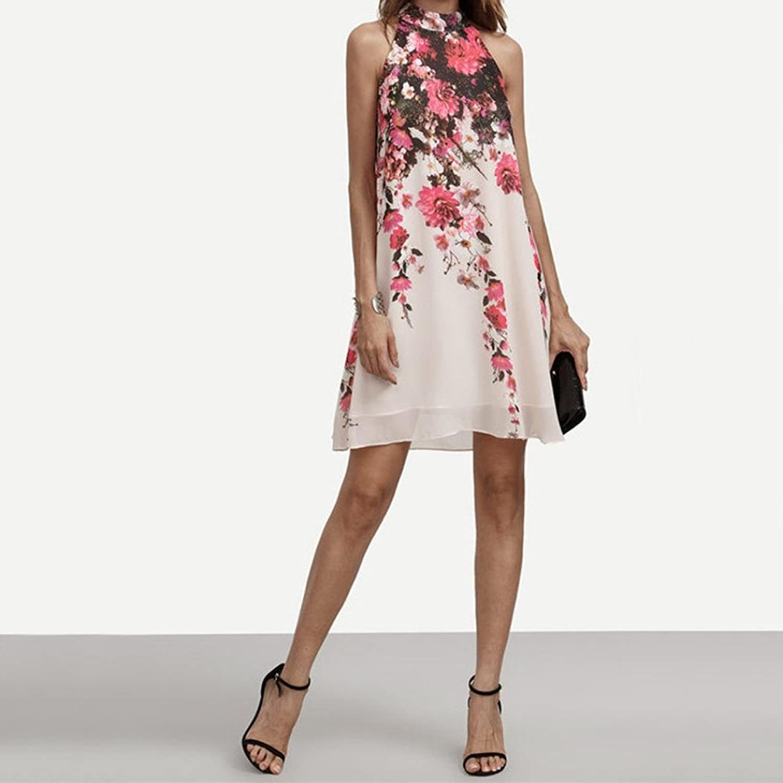 Bekleidung Longra Damen Kleid Sommer kurze Kleider Casual Womens ...