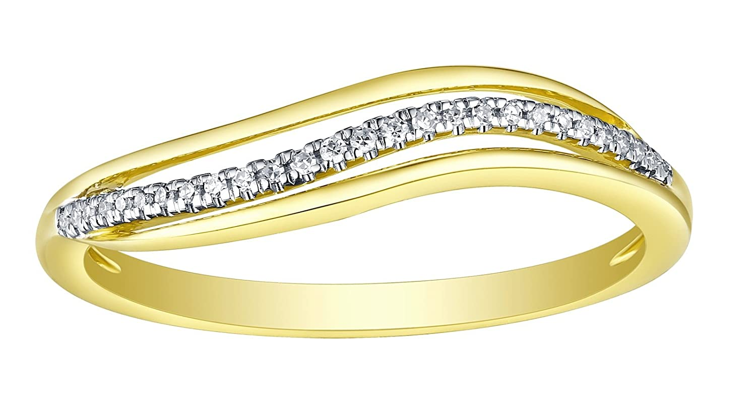 Prism Jewel Round Natural G-H//I1 Diamond Delicate Stackable Ring
