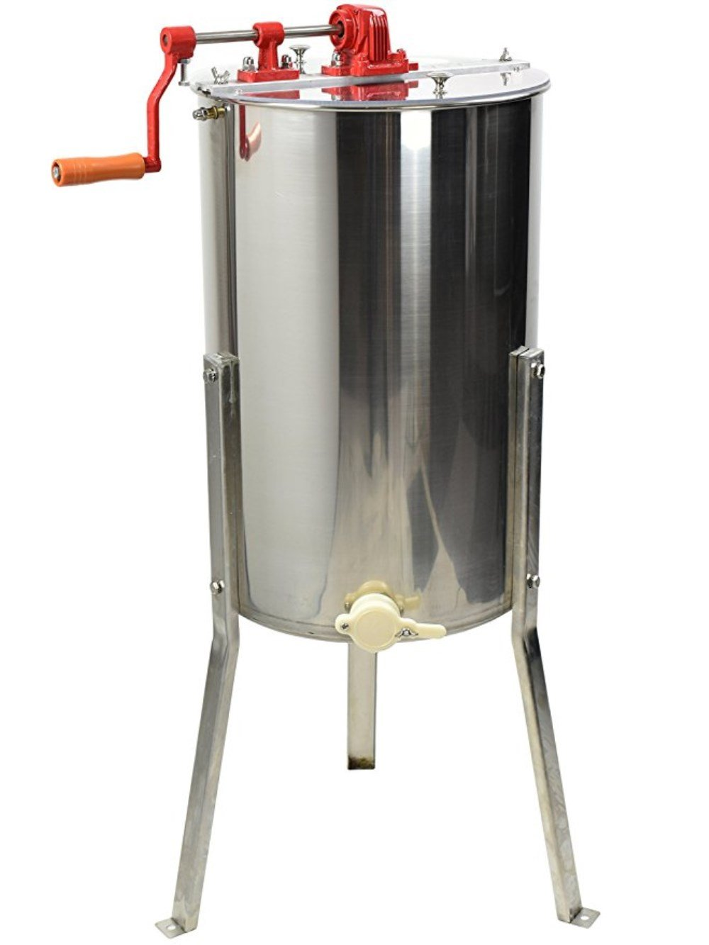 HUKOER 2 Frame Honey Extractor Separator Stainless Steel Honeycomb Spinner Drum Manual Crank Extraction Apiary Centrifuge Equipment
