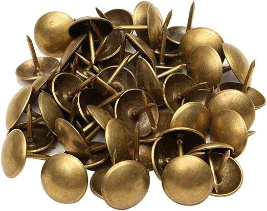 Sharplace Set de 100 Piezas Antique Tachuelas Tapicer/ía U/ñas Decoraci/ón Muebles Alfileres Perno Prisionero Nuevo y de Alta Calidad 7x10 mm Bronce