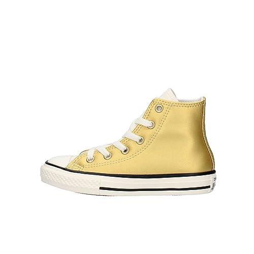 Scarpe Converse Chuck pelle Taylor HI METAL ALL STAR in pelle Chuck oro 655126C ec8822