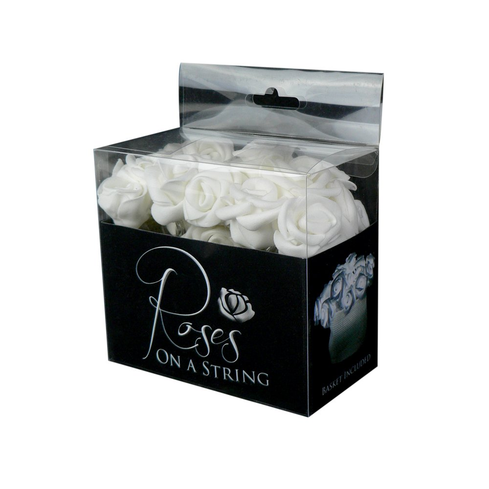 Fortune Products ROSE-100W Roses on a String Light Set, 10' Length, Cool White Lights (Case of 24 Strands)