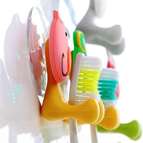 LQZ (TM) Animal Porta Cepillo de dientes de la cubierta ventosa con atracci¨