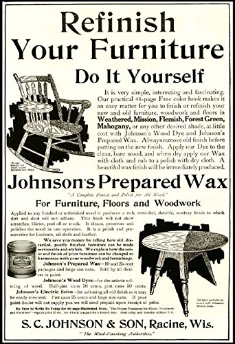 Astounding Amazon Com Great 1907 Ad For S C Johnson Prepared Inzonedesignstudio Interior Chair Design Inzonedesignstudiocom