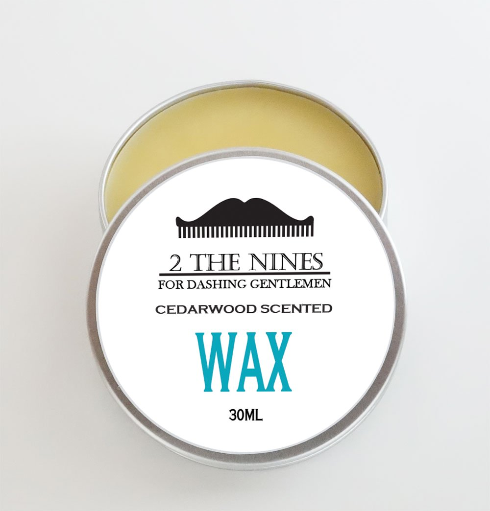 2 The Nines Premium Moustache Wax 4 x 30ml Gift Set Multipack Aluminium Tin - 4 Scents