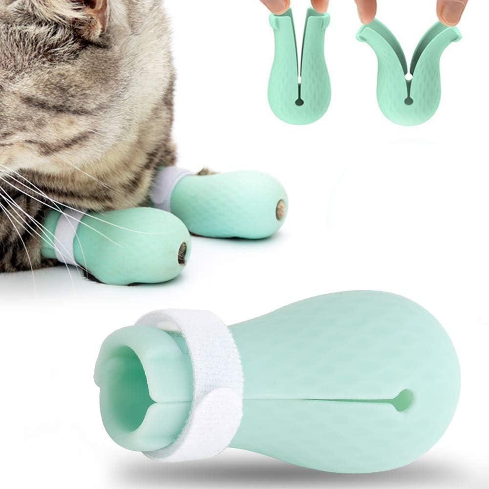 4 Pezzi in Silicone per Animali Domestici da Bagno per Gatti Che tagliano Il chiodo da Barba per Capelli Coprigambe Zerone